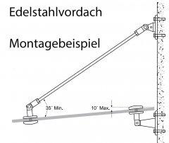 Edelstahlvordächer - Edelstahl Vordach Systeme zum selber montieren