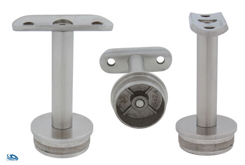 Handlaufst tze starr 42 4 2 0 mm anschraubplatte w hlbar - Edelstahlrohr durchmesser tabelle ...