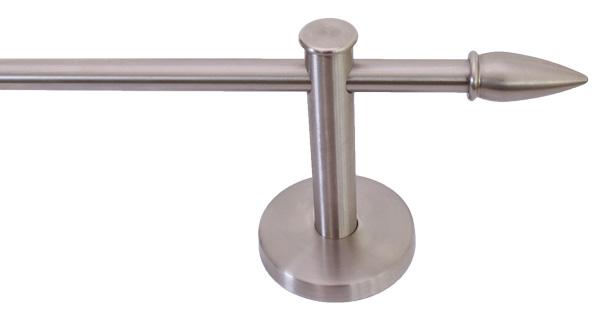 Gardinenstangenhalter Edelstahl edelstahl zierspitze 14 mm für gardinenstange modell 20