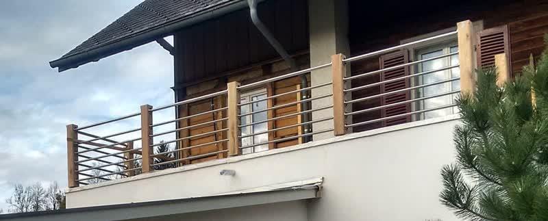 Hervorragend Terrassengeländer aus Holz und Edelstahl selber bauen RM92