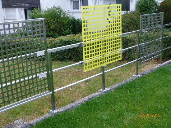 Edelstahl Zaun als Sichtschutz  mit Fotos