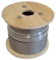 Edelstahl Seil 6 mm auf 100 m Rolle