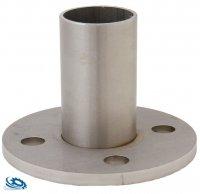 V2A Edelstahl Bodenanker für Edelstahlrohr 42,4 x 2,0 mm mit 4 Loch Befestigung - roh