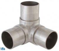 Eckverbinder Fitting für Edelstahlrohr 42,4 x 2,0 mm - V2A