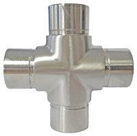 Edelstahl Kreuzverbinder Fitting 33,7x2,0 mm