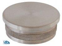 Edelstahl Endkappe (Hohlkappe) flach für Edelstahlrohr 42,4 x 2,0 mm
