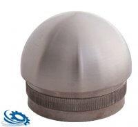 halbrunde Edelstahl Endkappe (Hohlkappe) für Rohr 42,4 x 2,0 mm aus V2A