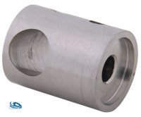Edelstahl Traversenhalter (Querstabhalter) für 12 mm Rundstab mit flachem Anschluss
