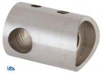 V2A Traversenhalter für Rohr 42,4 mm mit Durchgangsbohrung 10,2 mm