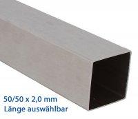 VA Vierkantrohr 50x50x2,0 mm - Länge wählbar