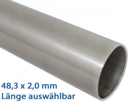L/änge:1.0m geschliffen Korn 240 bis 2m L/änge w/ählbar 100cm 1 1//2 Zoll 1000mm Edelstahlrohr V2A Edelstahl Gel/änder Rohr Rundrohr /Ø 48,3x2,0mm