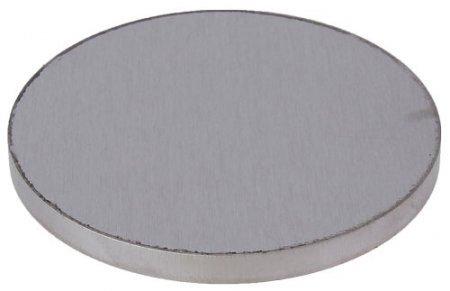 2 Stück Edelstahlronde geschliffen 40//4 mm ohne Bohrung V2A