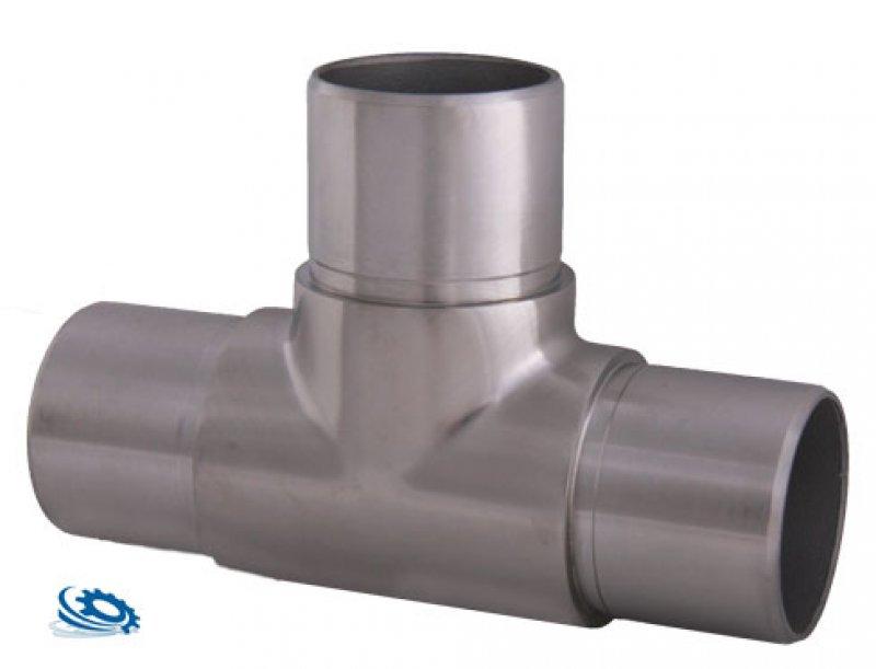 Super Edelstahl T-Stück Verbinder aus V2A für Rohr 42,4 x 2,0 mm BM76